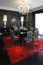 black lacquer table dining room contemporary with area rug bold colors black lacquer furniture paint