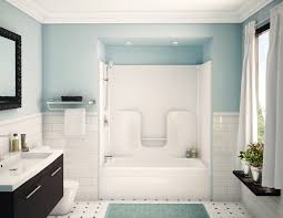 image bathtub decor: shower fine looking blue acrylic shower tub combo with free