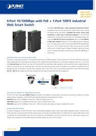 4-Port 10/100Mbps with <b>PoE</b> + 1-Port 100FX Industrial Web Smart ...
