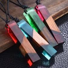 <b>Fashion</b> Long Necklaces Women <b>100</b>% <b>Handmade Wood</b> Resin ...