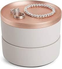 Umbra Tesora Jewelry Box, Two-Tier Resin Storage ... - Amazon.com