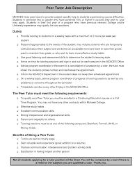internet tutoring resume   sales   tutor   lewesmrsample resume  resume job description tutor and cover