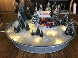 <b>Christmas</b> Snow Village on <b>metal</b> tray | <b>Christmas</b> arrangements ...
