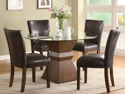Faux Leather Dining Room Chairs Leather Dining Sets Dining Room Furniture White Faux Leather