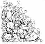 Цветы картинки черно-белые раскраски