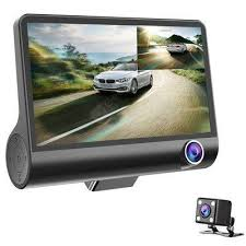 3 Lens WDR Dash Camera 4 inch Display HD 1080P <b>Car</b> DVR ...