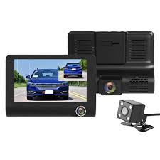 SE010 Triple <b>Lens</b> Car DVR Camera 4 Inch TN Screen <b>WDR Dash</b> ...