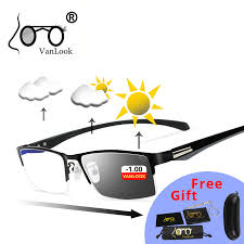 Photochromic Blue Blocker Sunglasses Myopia Blue Light Blocking ...