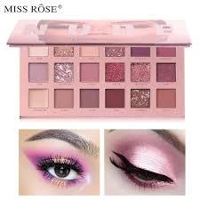 <b>MISS ROSE 18 color</b> eyeshadow pearl matte sunset desert rose ...