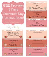 coupon booklet template valentines day coupon book new calendar printable valentine s day coupon book the frugal fairy