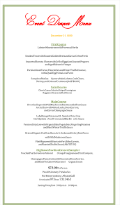 dinner party menu templates com dinner menu template