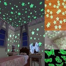 40/<b>100pcs</b> Plastic <b>3D Stars Glow</b> In The Dark Luminous Fluorescent ...