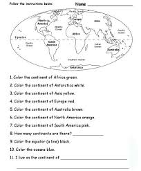 ideas about Continents And Oceans on Pinterest   Continents     The link is broken  I simply right clicked and hit view image  then printed from that screen  Blank Continents And Oceans Worksheets   Continents And Oceans