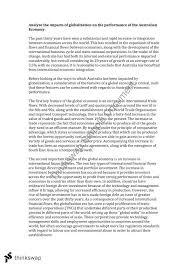 essay on effects of globalisation on australia   year  hsc    essay on effects of globalisation on australia