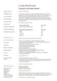 no work experience executive assistant resume resume template for students