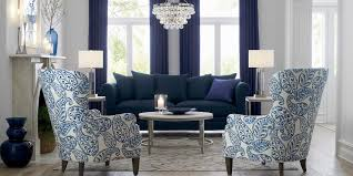 living room blue furniture