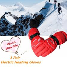 3.7V <b>USB Electric Heating Gloves</b> Motor Bicycle Thermal Winter ...