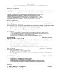 for sample resume of executive assistant
