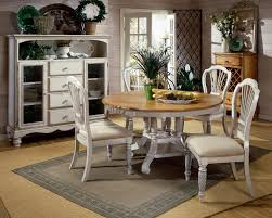 Dining Room Table And Chairs White Dining Room Table And Chairs And Two Tone Rounded Dining Table