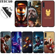 IYICAO Iron Man Marvel Soft Silicone Case for Samsung Galaxy ...