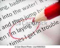 stock photo of proofreading essay errors csp   search  proofreading essay errors   csp