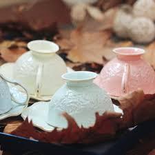 2 Pieces/set Embossed Elegant Rose <b>Bone China Coffee Tea</b> Cup ...