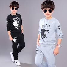 <b>2018 new arrival autumn</b> and spring children clothing set boys wolf ...
