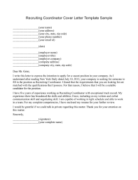 cover letters to recruiters template cover letters to recruiters
