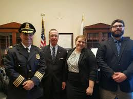 p a a r i members travel to d c to speak to congress about left to right east bridgewater police chief scott allen congressman stephen lynch p a a r i executive director allie hunter mcdade and steve lesnikoski
