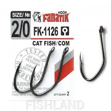 <b>Крючки FANATIK</b> FK-1126 <b>CAT FISH/COM</b> №2/0 (2 шт) купить в ...