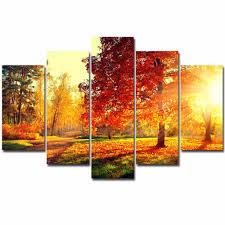 Canvas Painting <b>Modern 5 Pieces</b>/Pcs Sunset Landscape Art ...