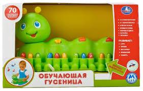 <b>Развивающая игрушка</b> Умка Обучающая <b>гусеница</b> — купить по ...