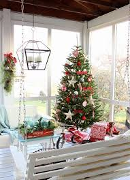 screen porch furniture ideas. screened porch with a swinging bench and beautiful christmas decor screen furniture ideas i