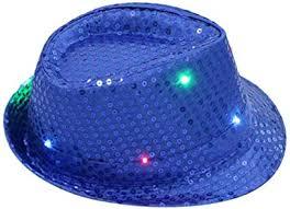 OWIKAR LED Sequin Flashing <b>Hat</b> Luminous Unisex Light Up <b>Party</b> ...