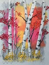 tree wall decor art youtube: i am going to paint aspen trees at sunrise at pinots palette st matthews