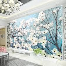 room elegant wallpaper bedroom: elegant d wallpaper magnolia wall murals custom oil painting photo wallpaper bedroom hotel shop tv backdrop