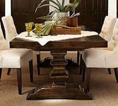 pottery barn style dining table:  banks hardwood extending dining table j