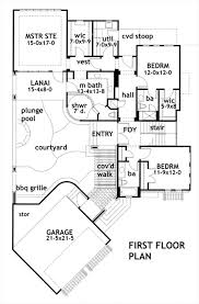 Beach House Plan   Bedrooms and   Baths   Plan First Floor Plan
