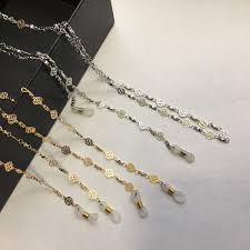 2019 Gold Or <b>Silver Plated Eyeglass Brass</b> Chains In Snow Flake ...