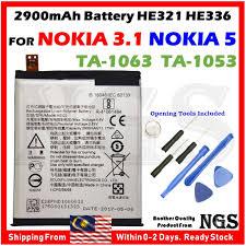 <b>Original 2900mAh</b> Battery HE321 <b>HE336</b> For Nokia 3.1 TA-1063 ...