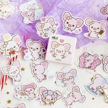 <b>Cute</b> Big Ears <b>Pink Pig</b> Decorative Stickers Scrapbooking Stick ...