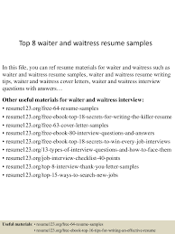 resume sample waitress cocktail server resume sample cover app6891 thumbnail 4jpg cb 1432891861 top8waiterandwaitressresumesamples 150529092307 lva1 app6891 thumbnail 4 top 8 waiter and waitress resume samples