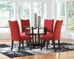 Parsons Dining Room Table Dining Modern Dining Room Design Using Carton Red Velvet Parsons