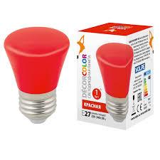 <b>Лампочка Volpe LED</b>-<b>D45</b>-<b>1W</b>/RED/<b>E27</b>/<b>FR/С</b> BELL Bell <b>LED</b>-<b>D45</b>