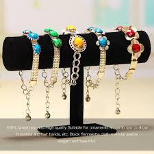 Fashion Jewelry Display <b>Black Velvet/Leather T Bar</b> Jewelry Rack ...