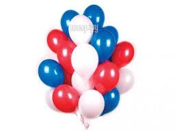 Купить <b>Набор воздушных шаров Поиск</b> Триколор 30cm 30шт ...