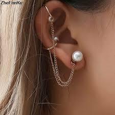 1PC 2019 Fashion 316L Surigcal <b>Steel C Shape</b> Fake Earrings ...