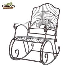 rocker wrought iron outdoor patio porch new furniture black wrought iron patio furniture attractive rod iron patio