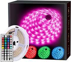 MINGER LED Strip Lights, 16.4ft RGB LED Light Strip ... - Amazon.com