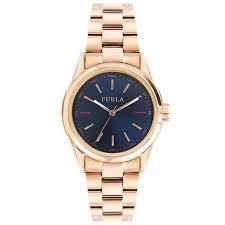 <b>Furla</b> Eva Womens Blue Dial Rose Gold Bracelet <b>Watch</b> 547936386